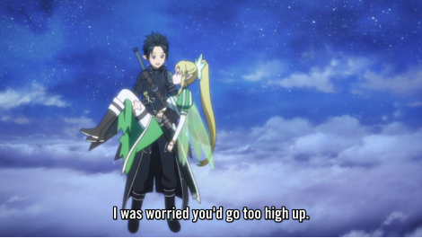 Now, with speeches like that, tell me why girls don't fall for Kirito ..? ~(=_=~)